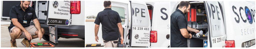 scope security mobile locksmith service van in sydney